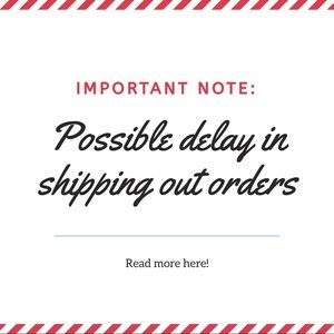 Possible delays in shipping out orders - read more